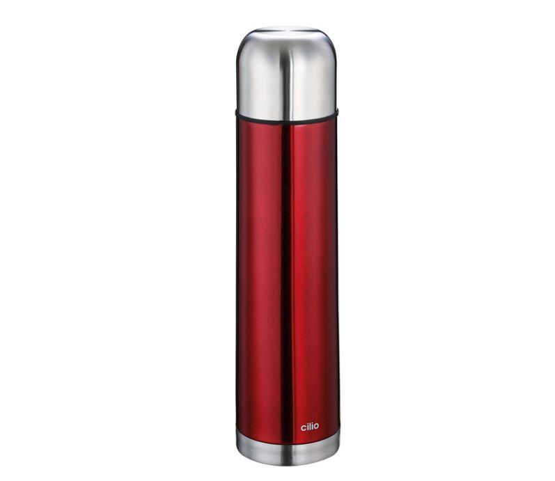 Termoska metalicky červená 1 l - Cilio