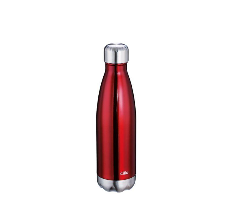 ELEGANTE termoláhev 0,5 l, metalicky červená - Cilio