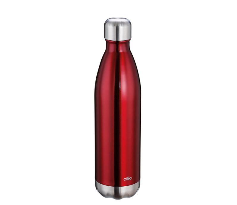 ELEGANTE termoláhev 0,75 l, metalicky červená - Cilio