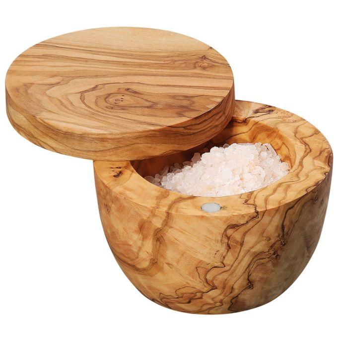 Dóza na sůl 9,5 cm, olivové dřevo - Zassenhaus