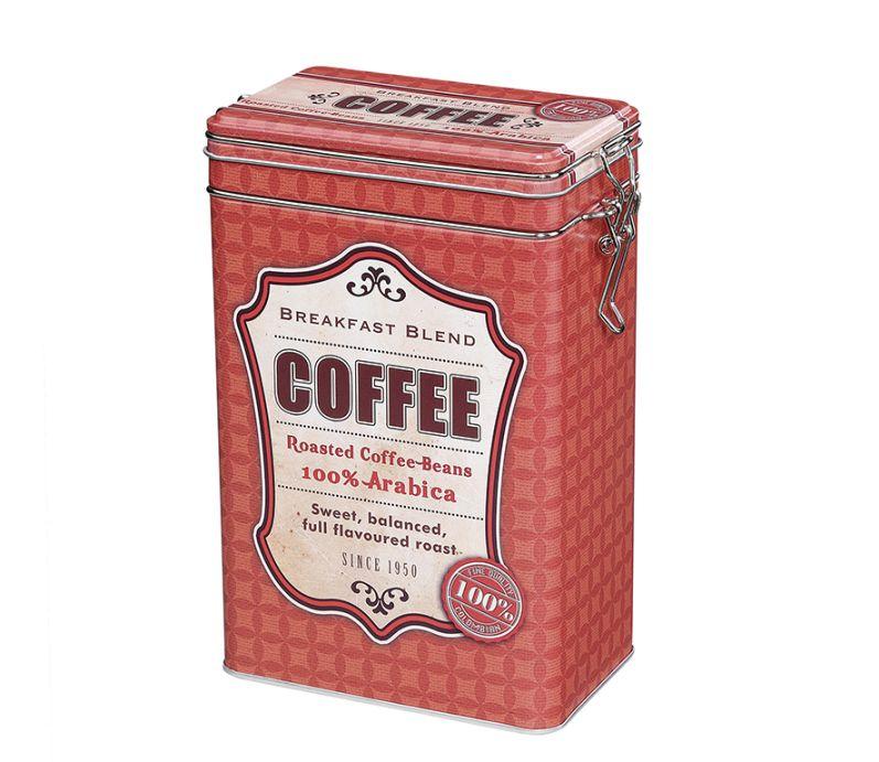 Retro dóza na kávu 500g, červená - Zassenhaus