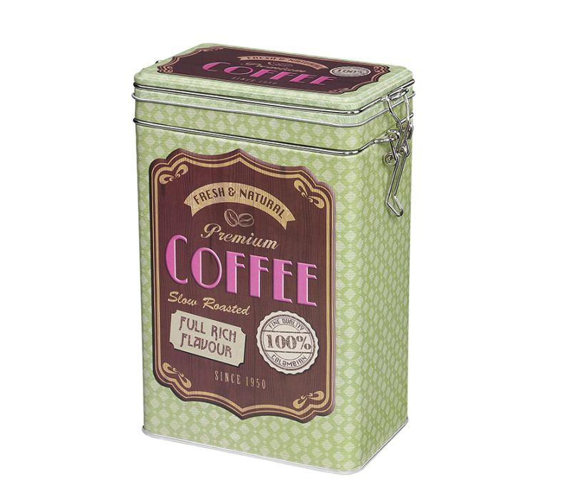 Retro dóza na kávu 500g, zelená - Zassenhaus