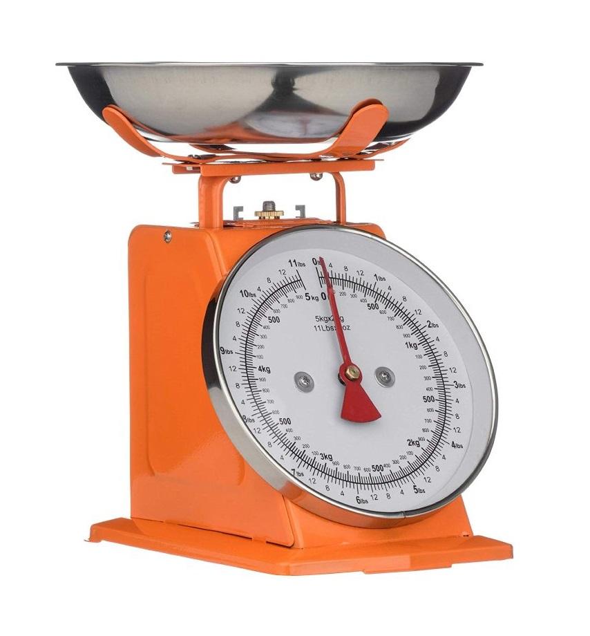 Kuchyňská Retro váha 5 kg oranžová - Premier
