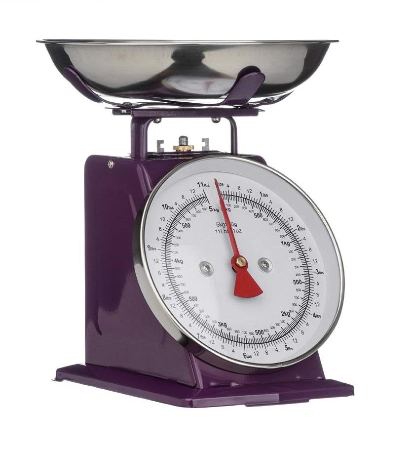 Kuchyňská Retro váha 5 kg fialová - Premier