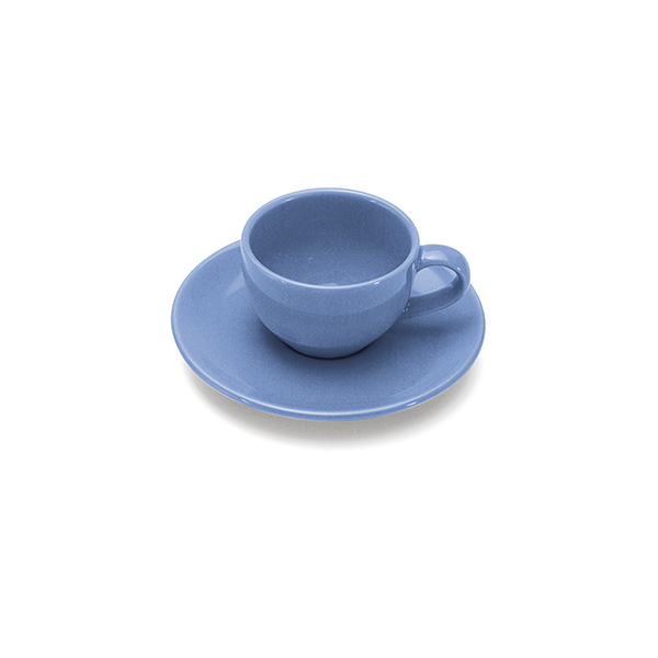 COLOURS Šálek s podšálkem na Espresso 70 ml modrý - Carlo Giannini
