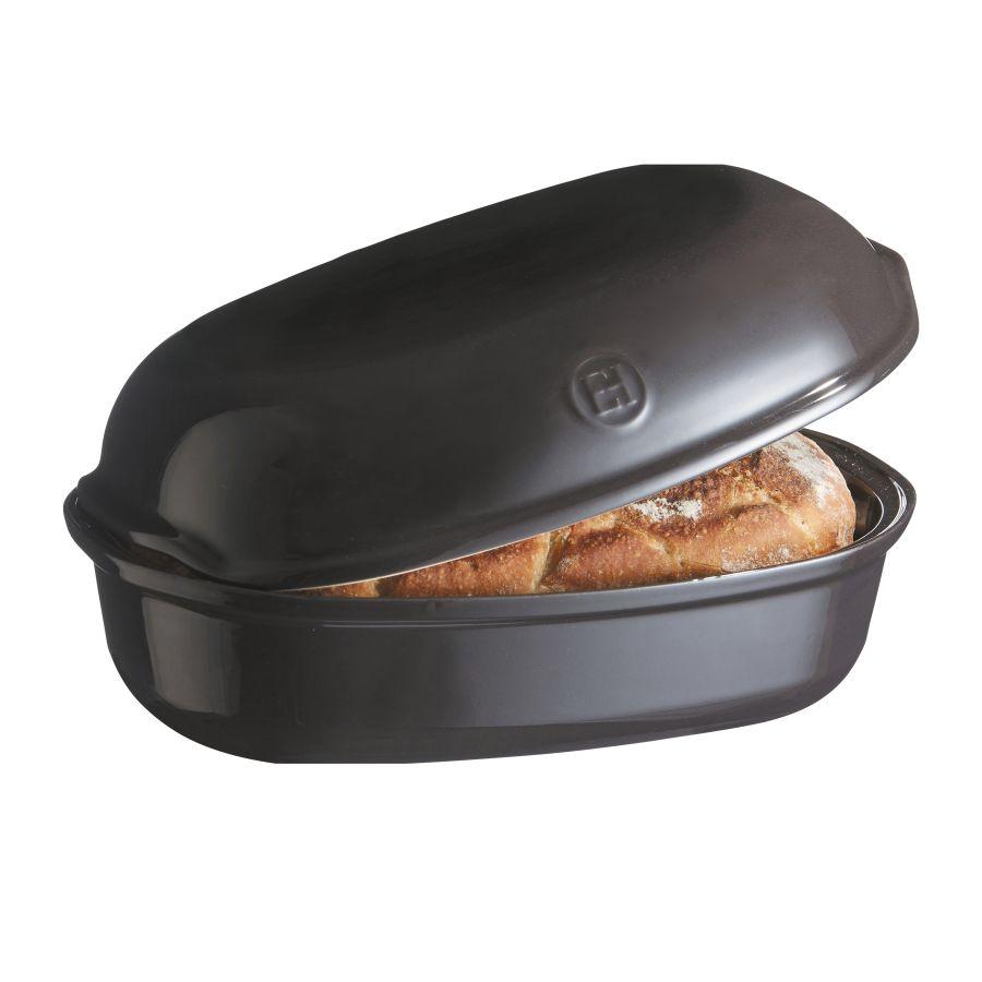 Forma na pečení chleba oválná 34 x 22cm antracitová Charcoal - Emile Henry