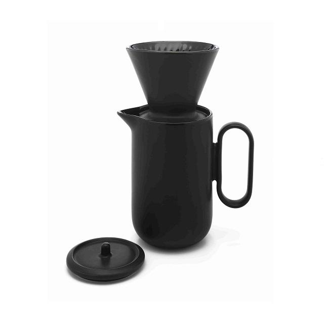Sada na přípravu kávy PALERMO, černá - Leopold Vienna