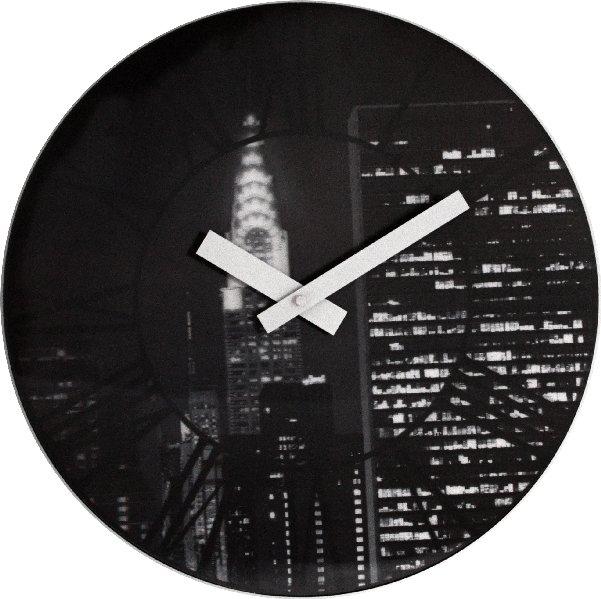 Nástěnné hodiny THE CITY 3D 39 cm - NEXTIME