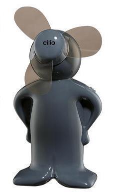 Mini Ventilator TREND, tmavě šedý  - Cilio