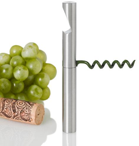 Vývrtka a otvírák na láhve BUDDY zelený - Adhoc