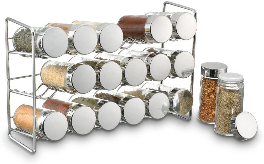 Stojan na 18 kořenek stříbrný - Polder