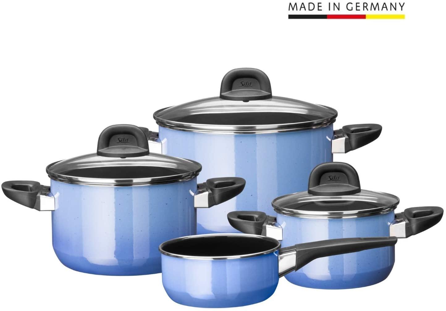 Sada nádobí Modesto Line modrá 4-díly - Silit