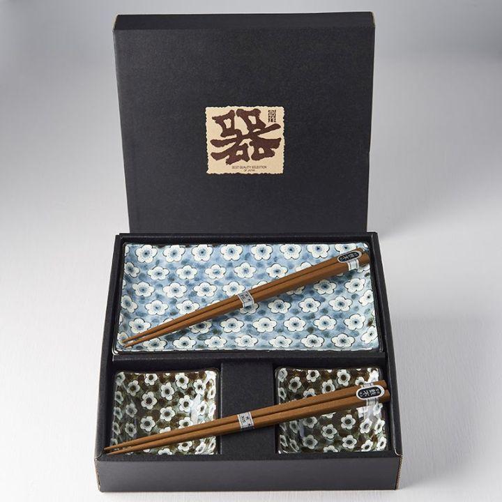 Set na sushi NAVY & WHITE UME, 6 ks - Made in Japan