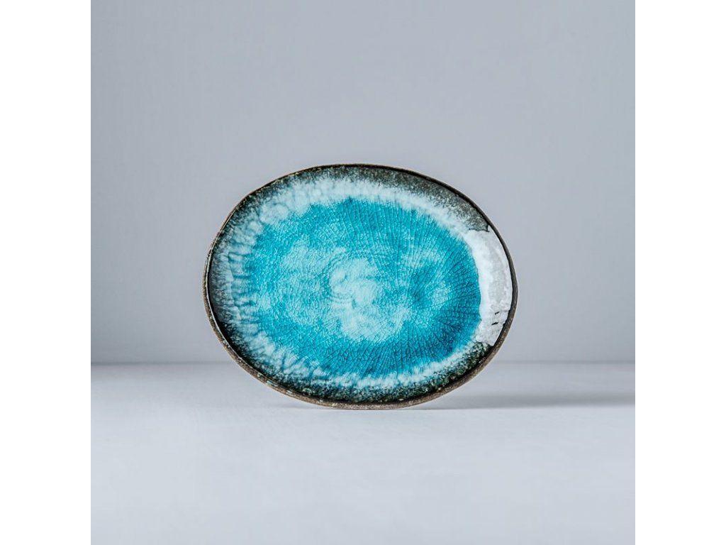 Oválný talíř SKY BLUE, 18 x 14,5 cm - Made in Japan