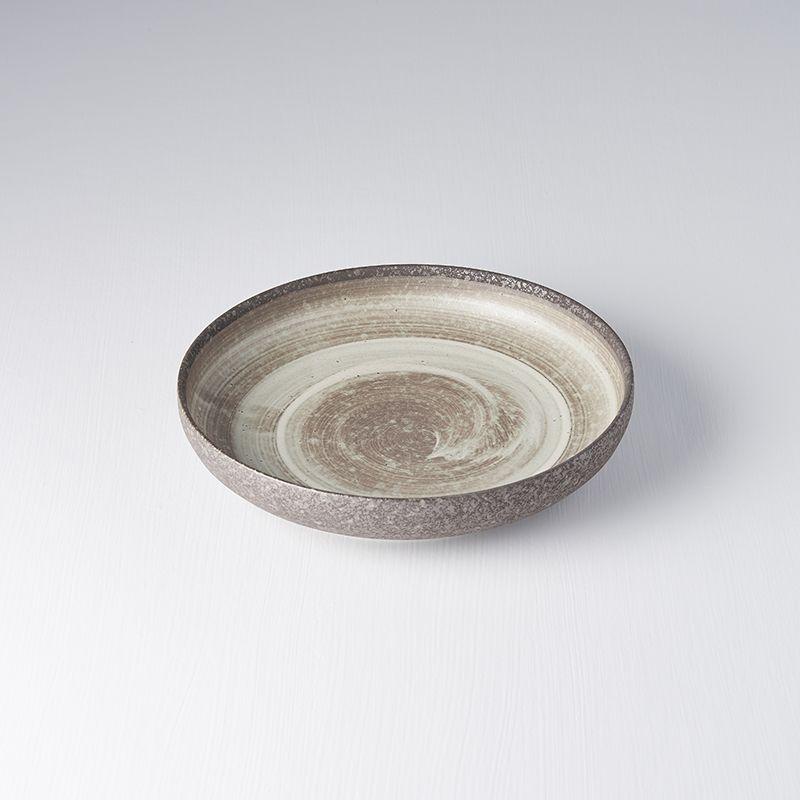 Talíř NIN-RIN 22 cm, vysoký okraj - Made in Japan