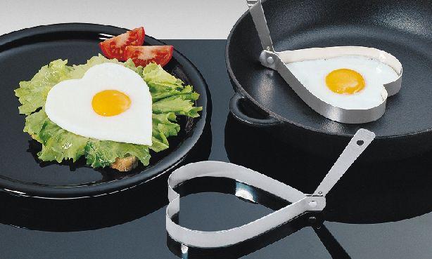 Sada 2 forem na vajíčka SRDCE nerezová - Küchenprofi