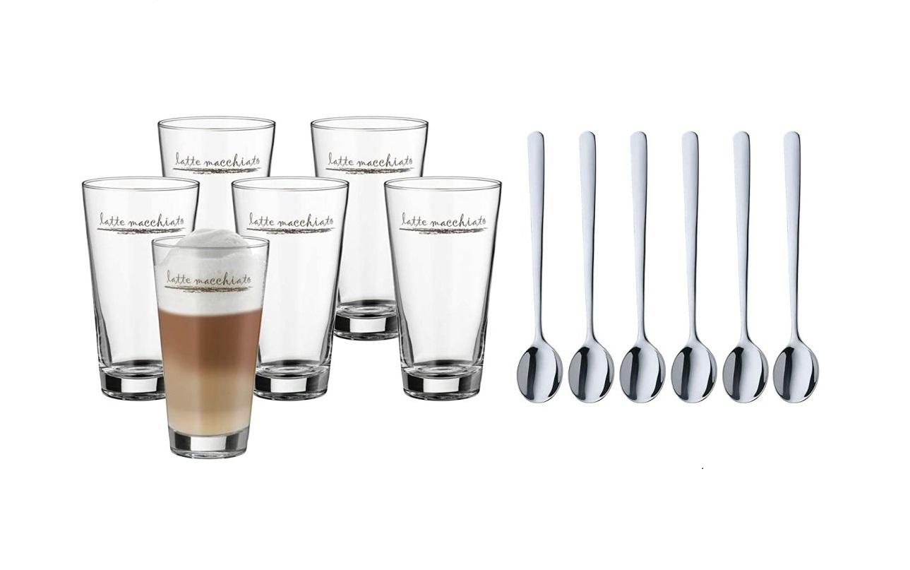 Set na latte macchiato + lžičky 6ks Clever & More - WMF