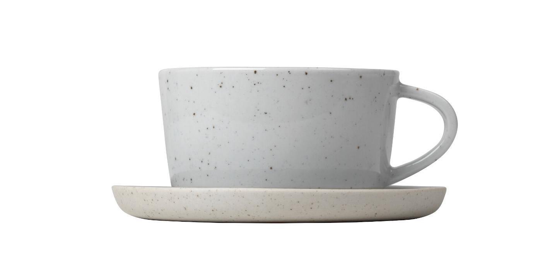 Hrnek na kávu s podšálkem SABLO, 2 ks - Blomus
