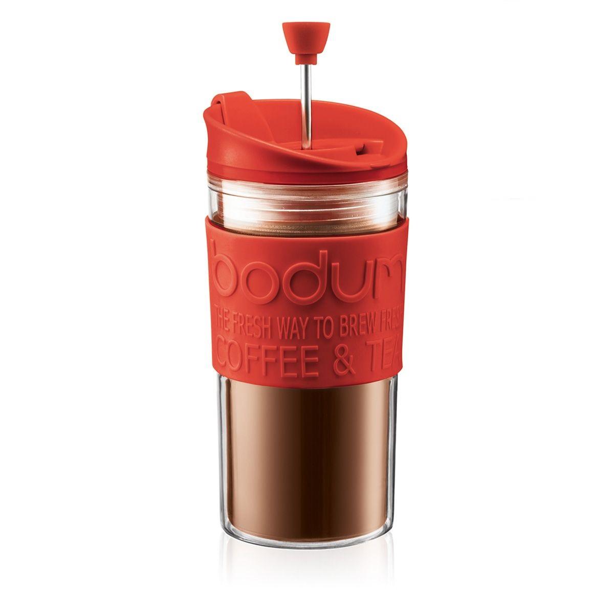 Cestovní french press 0,35 l červený TRAVEL PRESS - Bodum