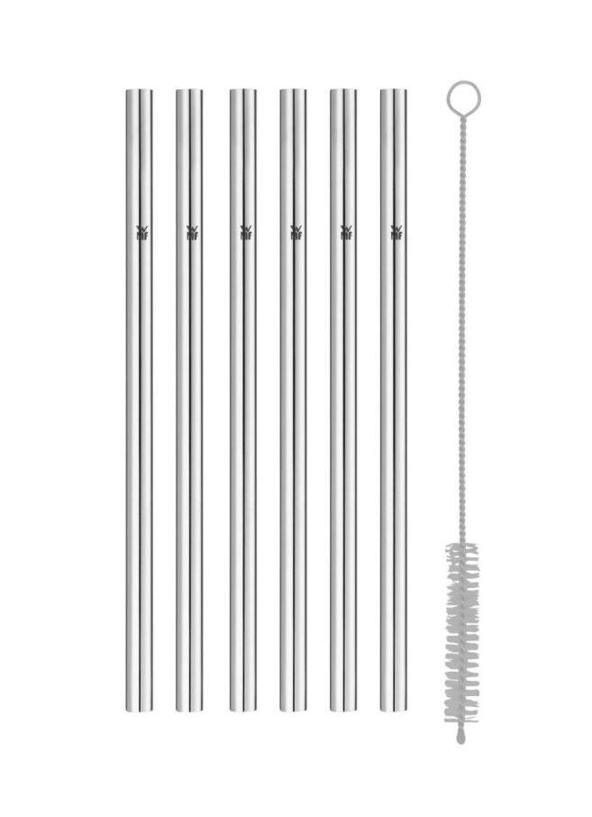 Nerezové brčka 18 cm Baric 6 ks + kartáček - WMF