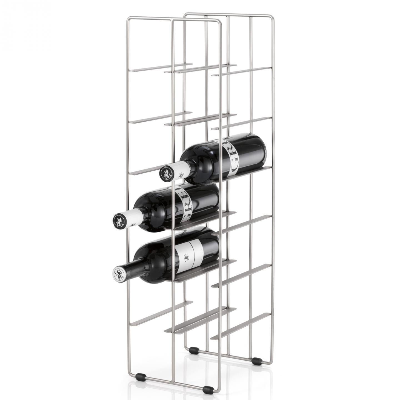 Stojan na láhve vína PILARE 12 lahví, stříbrný matný - Blomus