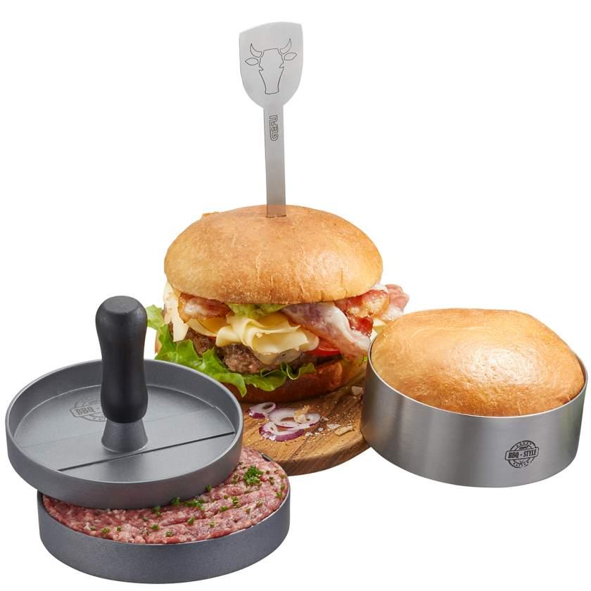 3dílná sada na hamburger BBQ - GEFU