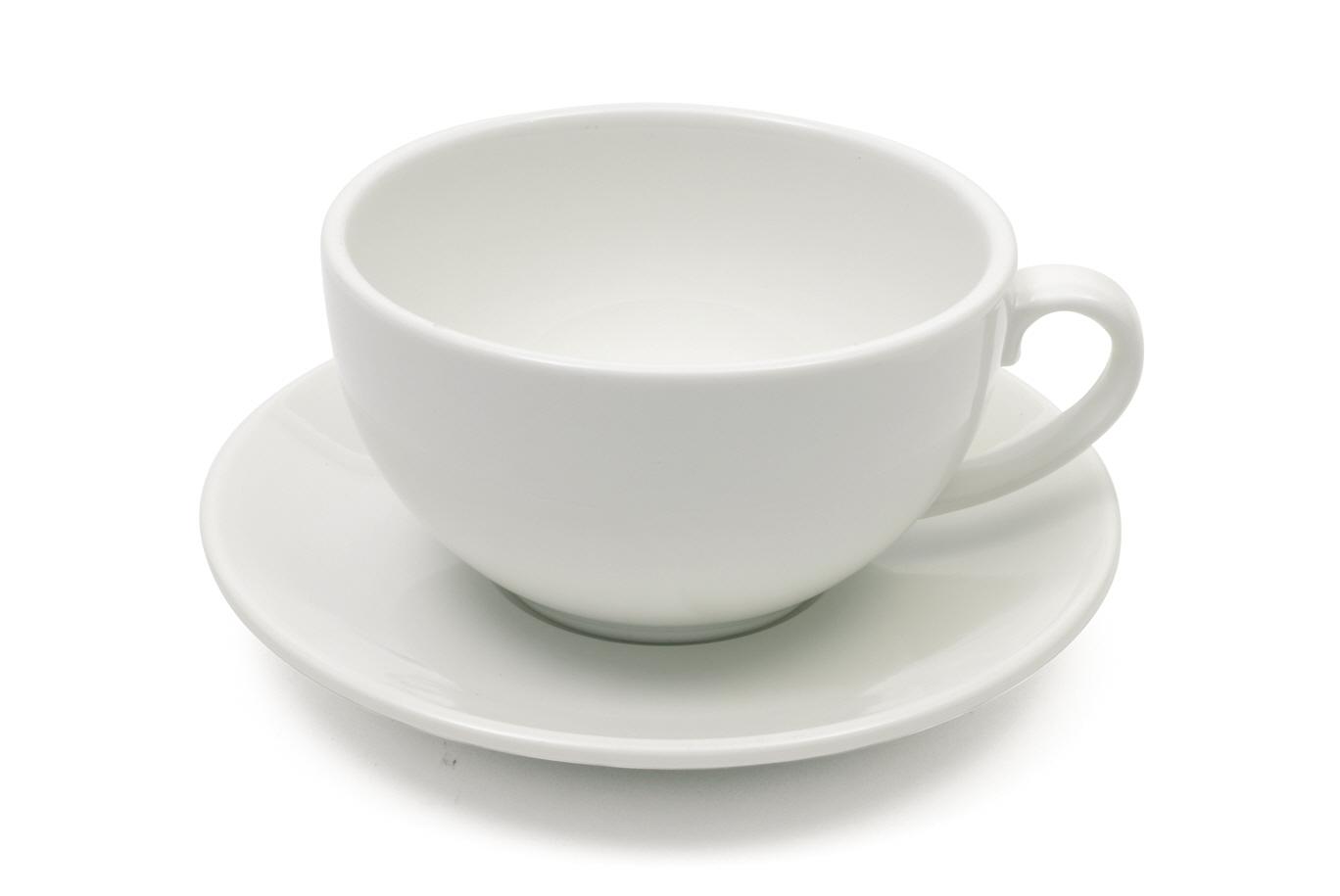 Šálek s podšálkem na cappuccino WHITE BASICS 320 ml - Maxwell&Williams