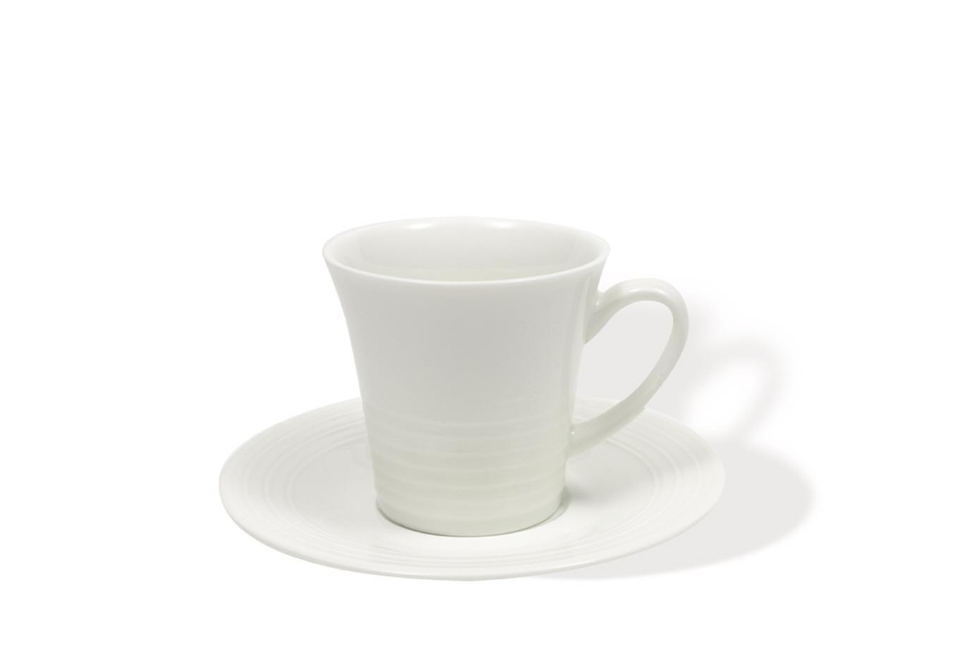Šálek s podšálkem na espresso White Basics Cirque 80 ml - Maxwell&Williams