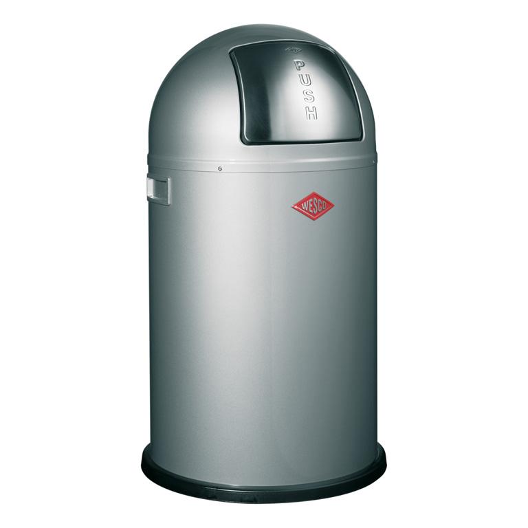 Odpadkový koš Pushboy junior stříbrná 22l - Wesco