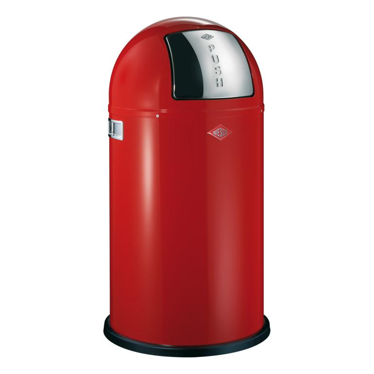 Odpadkový koš Pushboy červená 50l - Wesco