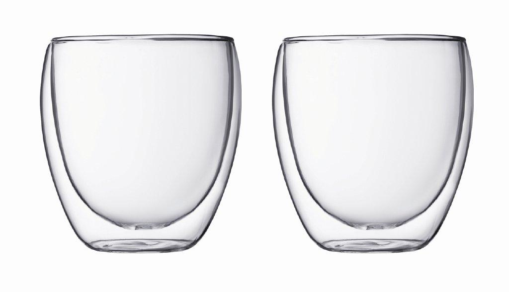 Set 2 ks Dvoustěnná sklenice PAVINA 0,25 l - Bodum