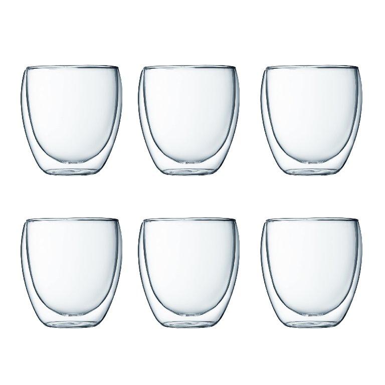 Set 6 ks Dvoustěnná sklenice PAVINA 0,25 l - Bodum