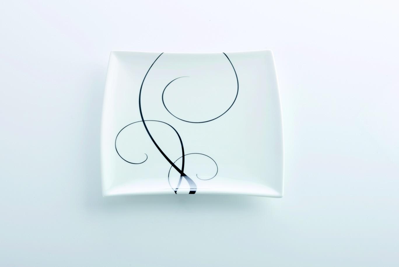 Čtvercový dezertní talíř Breeze 18 x 18 cm - Maxwell Williams