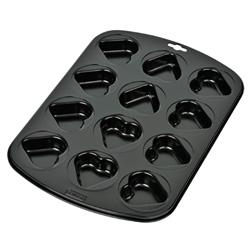 Kaiser Love Plech na 12 muffinů - srdíčka 38x27 mm- KAISER