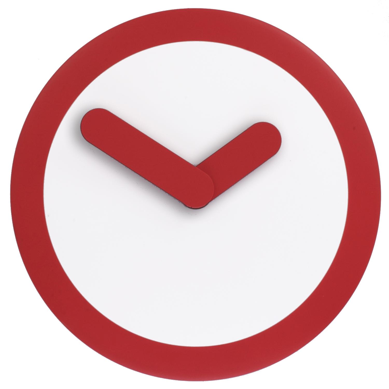 Nástěnné hodiny Focus 25 cm červené - NEXTIME