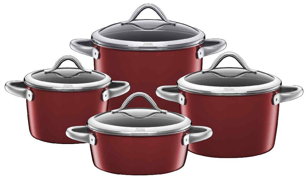 Sada nádobí Vitaliano Rosso 4 dílný set - Silit