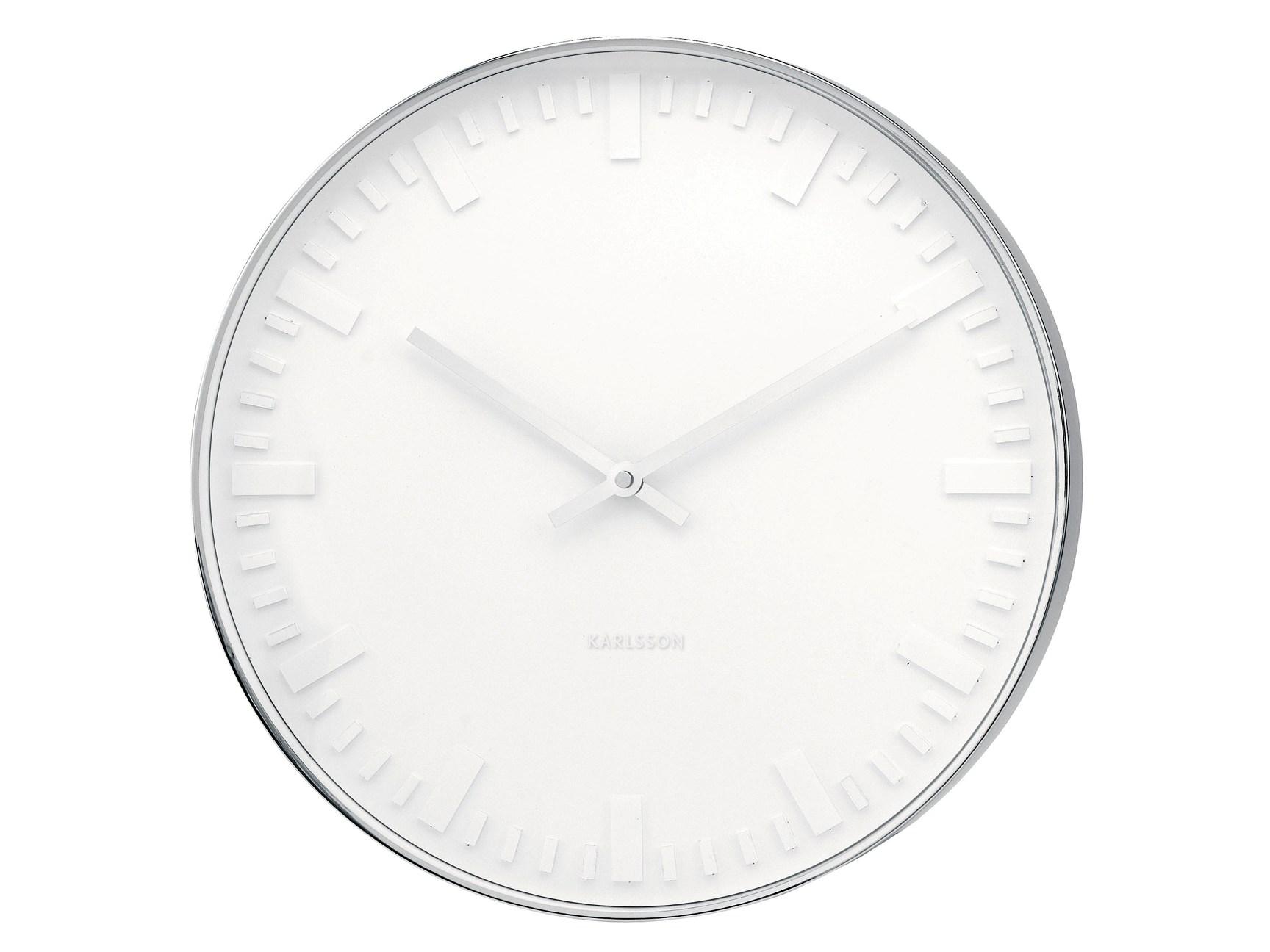 Nástěnné hodiny Mr. White numbers steel 38 cm - Karlsson