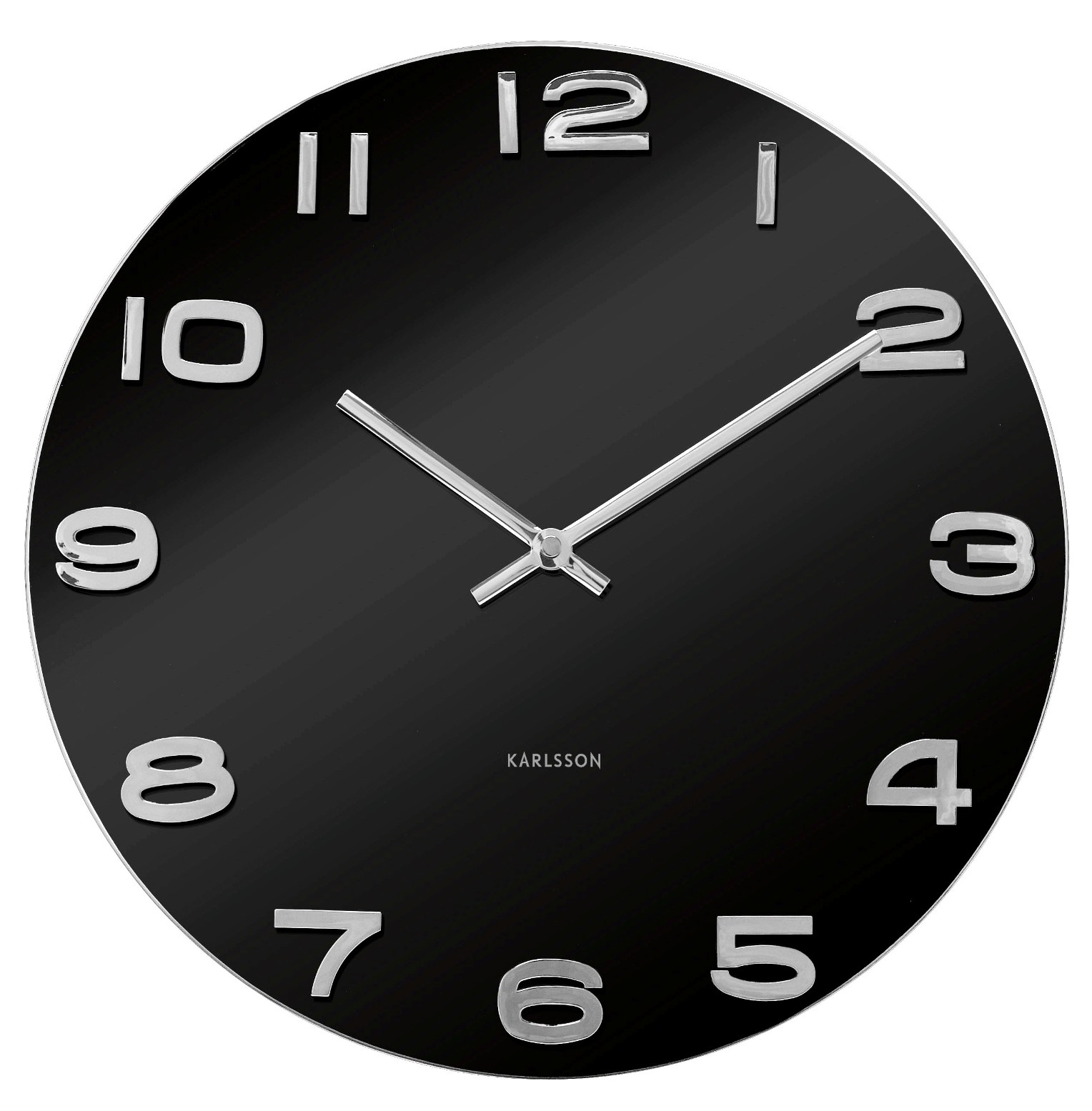 Nástěnné hodiny Vintage black round 35 cm černé - Karlsson