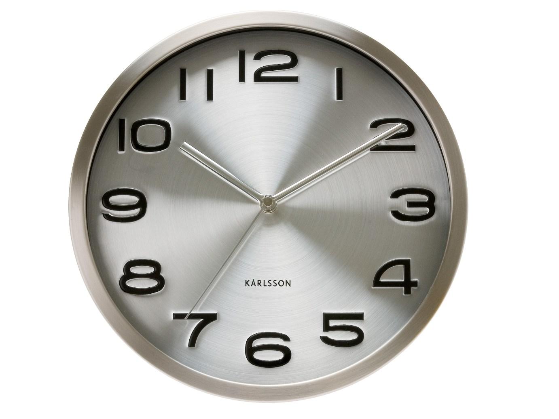 Nástěnné hodiny Maxie steel 29 cm nerez - Karlsson