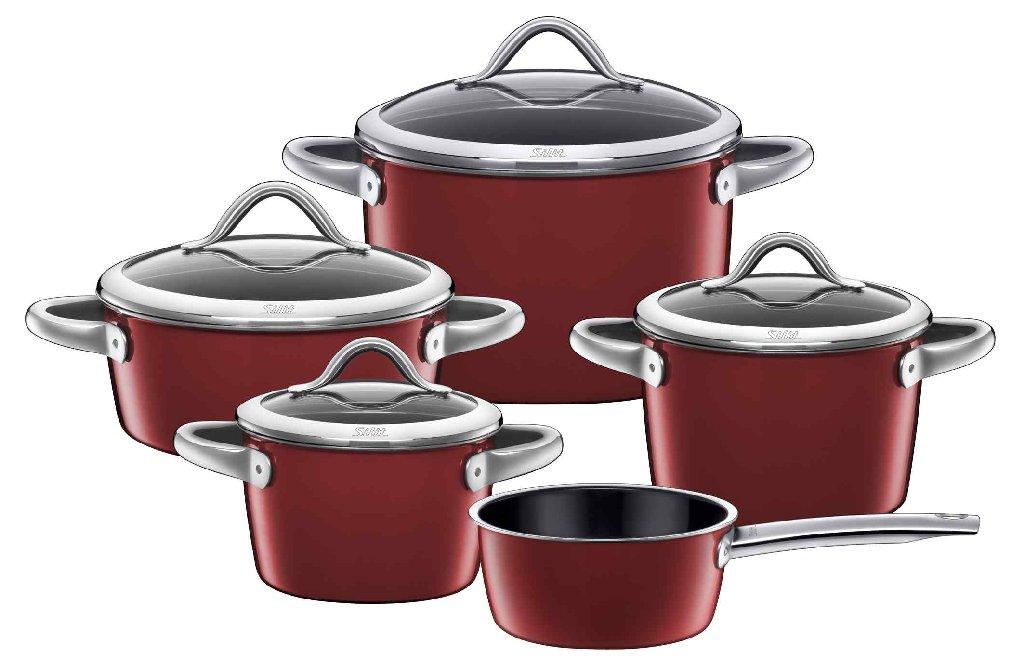 Sada nádobí Vitaliano Rosso 5 dílný set - Silit