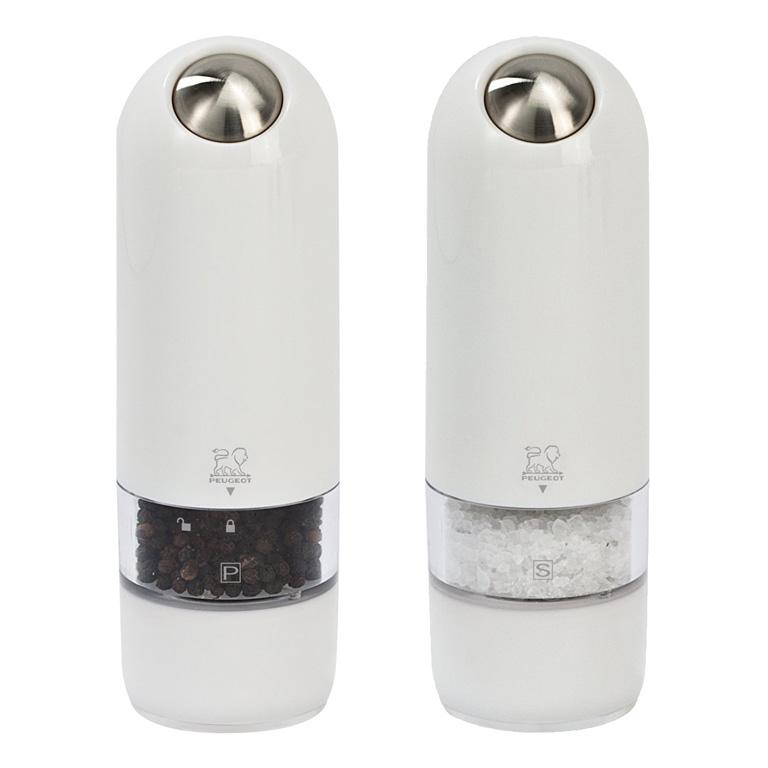 Dárková sada mlýnků na pepř a sůl 17 cm Alaska bílé - Peugeot