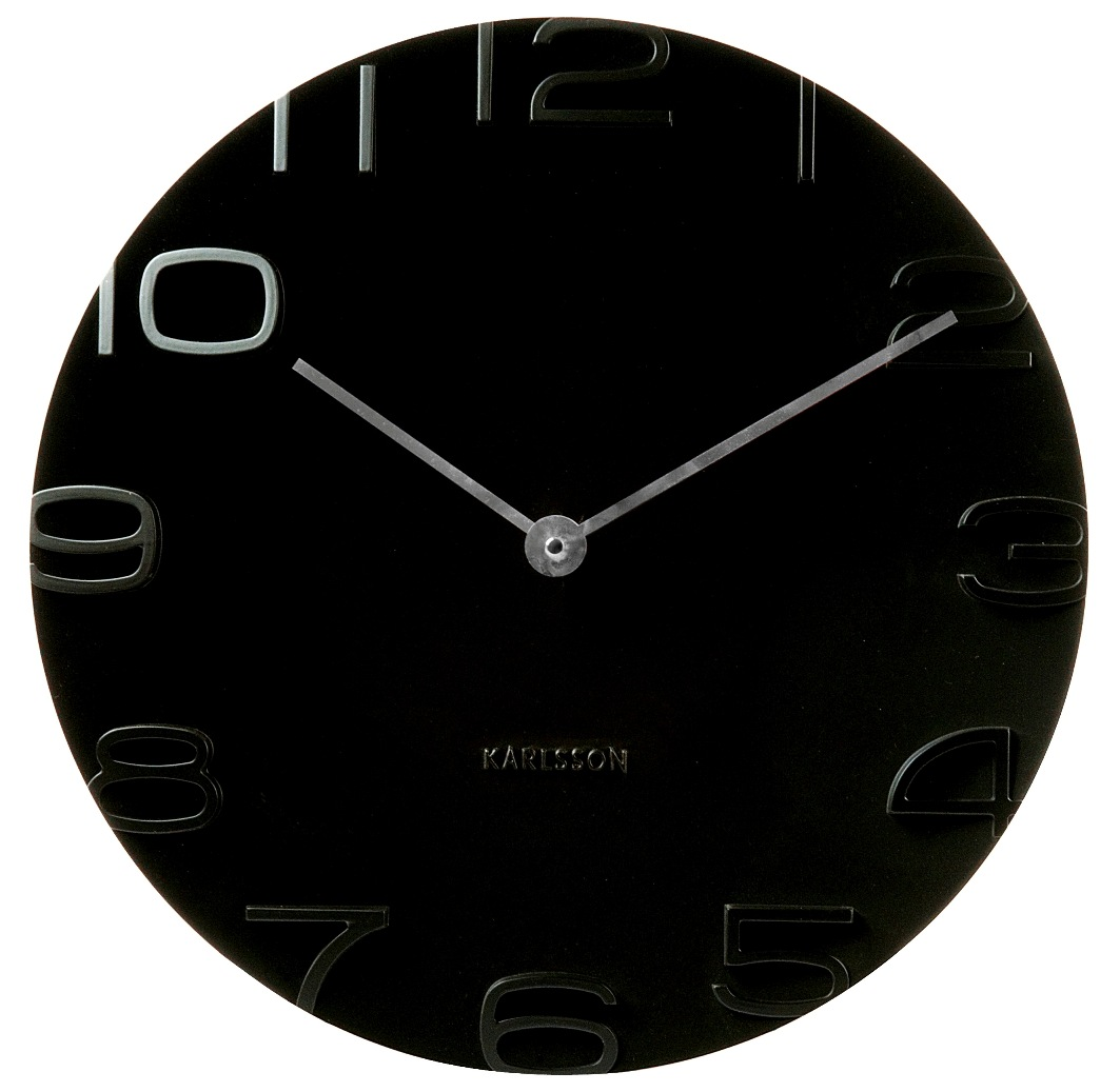 Fotografie Nástěnné hodiny On The Edge 42 cm černé - Karlsson