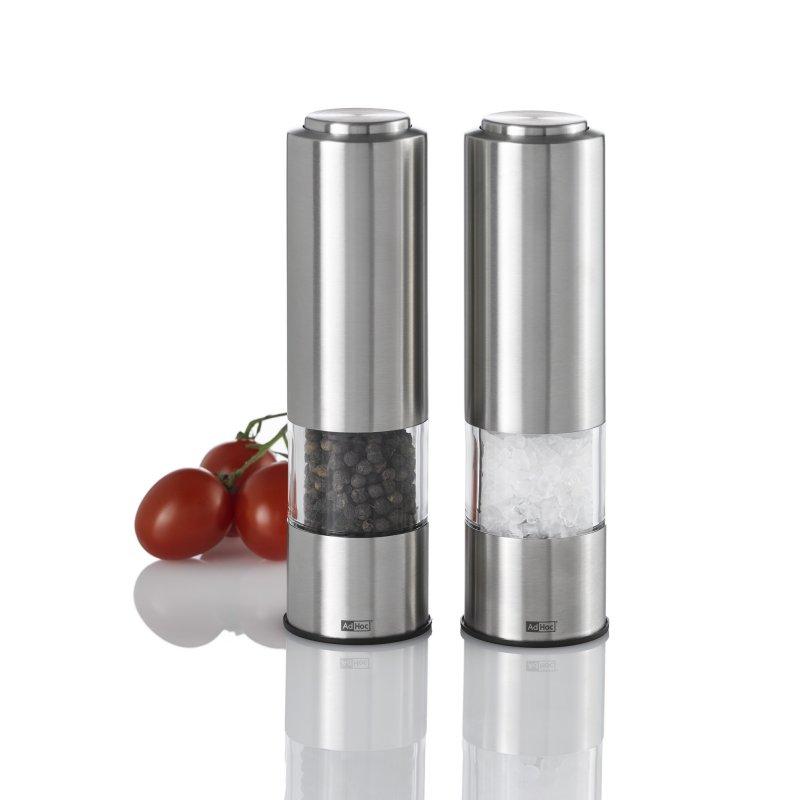 Set elektrických mlýnků na pepř a sůl PEPMATIK 2 ks - AdHoc