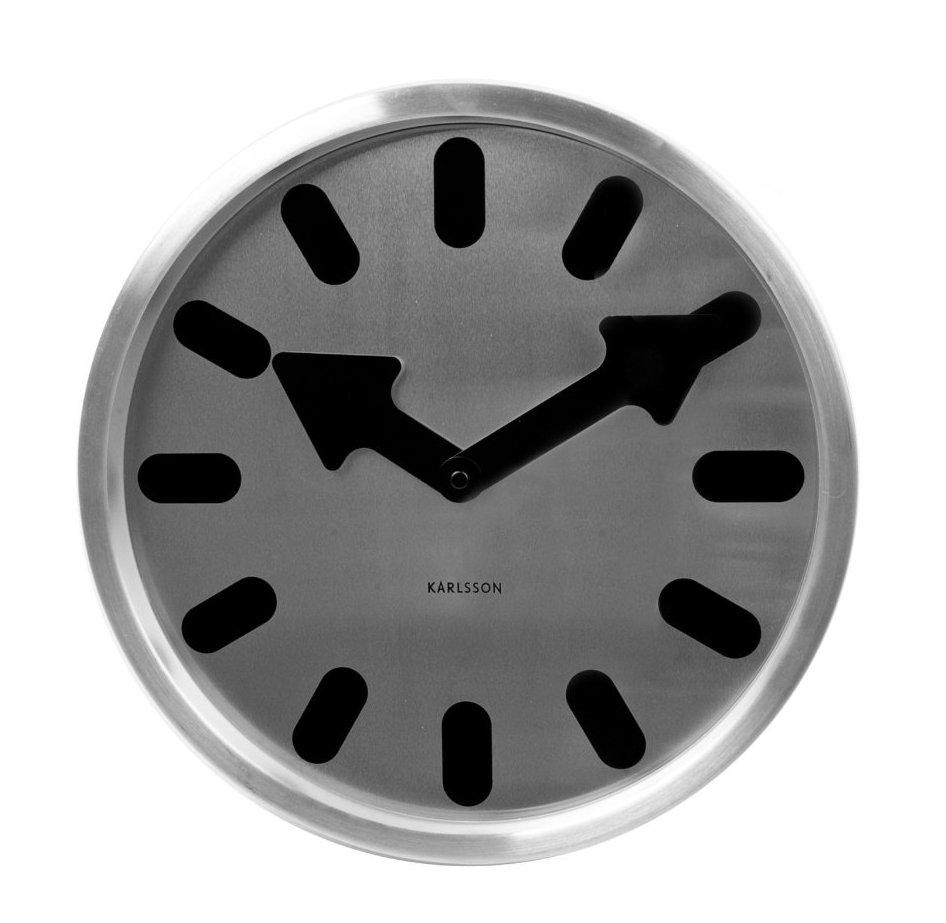 Nástěnné hodiny Boxtel & Buijs 30 cm nerez - Karlsson