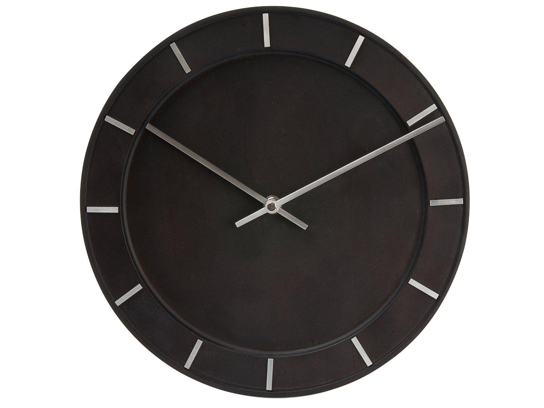 Nástěnné hodiny Pure Black wood 29cm - Karlsson