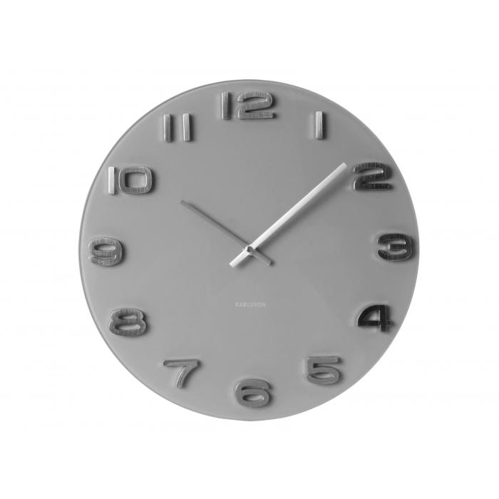 Nástěnné hodiny Vintage Glas rund 35 cm šedé - Karlsson