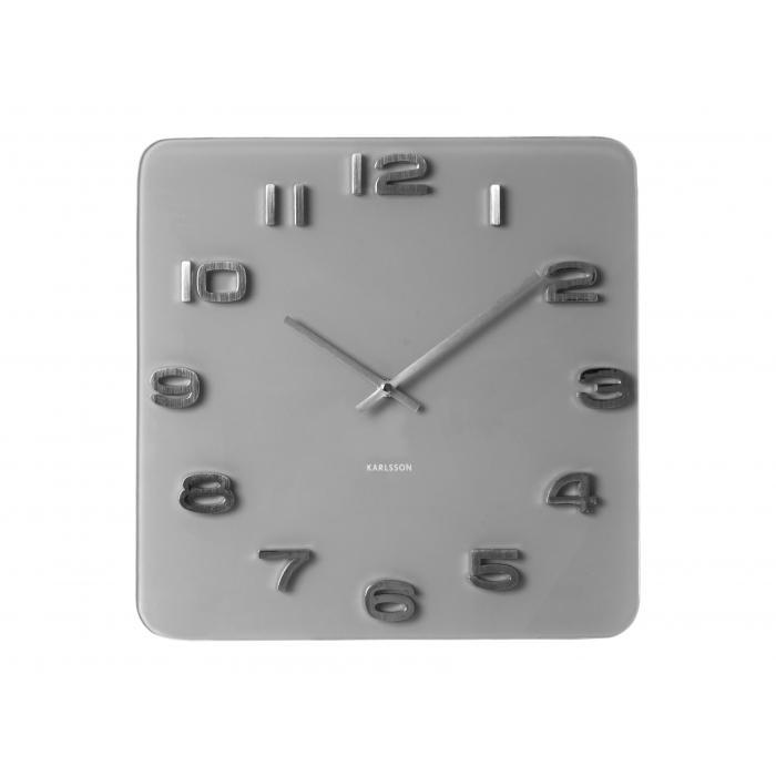 Nástěnné hodiny Vintage Glas 35 x 35 cm šedé - Karlsson