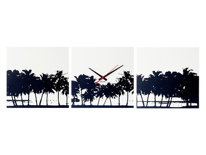 Nástěnné hodiny Beach Skyline canvas 35 x 35 cm - Karlsson