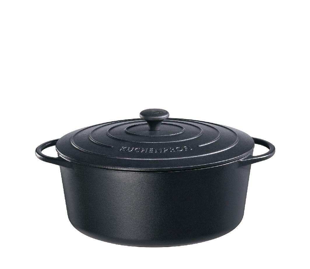 Litinový hrnec oválný Provence 33 cm černý - Küchenprofi