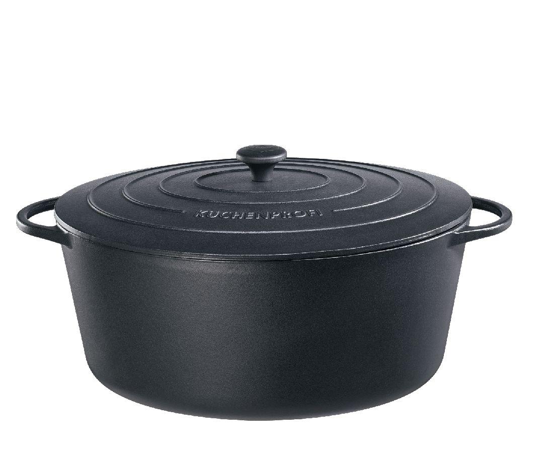 Litinový hrnec oválný Provence 40 cm černý - Küchenprofi